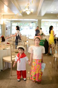 Who doesn't love a good ol'-fashioned Filipino-themed celebration? I'm sure all of us (at some point in our lives) have experienced wearing a baro't saya and barong when we … Filipino Baby, Filipino Wedding, Fiesta Theme Party, Party Themes, Party Ideas, Theme Parties, Culture Day, Fiesta Outfit, Ol Fashion