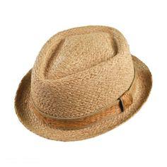 Raffia Straw Diamond Crown Fedora Hat
