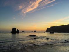 Old Home Beach at sunset, Trinidad, California