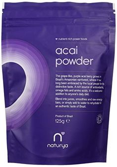 Naturya Organic  Acai Powder 125 g Nutritional Power Food Pouch NATURYA