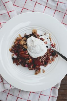 A simple GF berry granola with whipped coconut cream