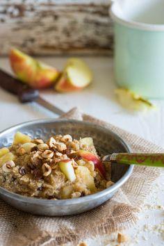 Almost paleo Apple pie porridge with quinoa flakes - Simone's Kitchen EN