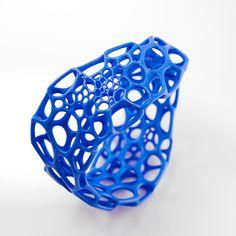 Wave Bracelet in marine blue by nervous system