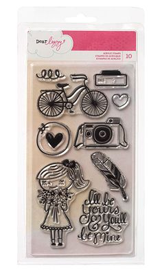 American Crafts - Dear Lizzy Collection - Daydreamer - Clear Acrylic Stamps