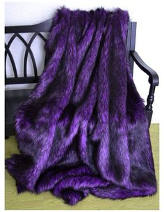 Purple Love, All Things Purple, Shades Of Purple, Purple And Black, Purple Stuff, Fur Bedding, Purple Bedding, Luxury Bedding, Purple Bedrooms