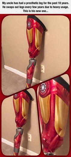Iron Man's Prosthetic Leg