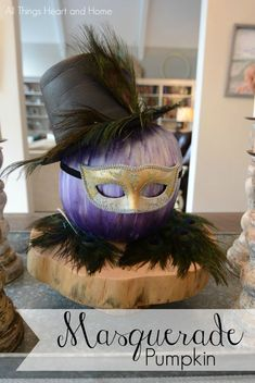 Masquerade Pumpkin - All Things Heart and Home