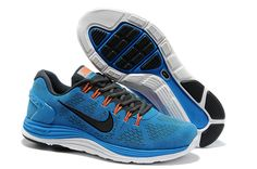 62704861feb3 Mens Nike LunarGlide 5 Suede Blue Hero Black Anthracite Total Orange Shoes  Orange Shoes
