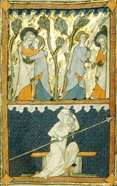 Sposalizio mistico – miniatura dai Cantici di Rothschilde – XIV secolo