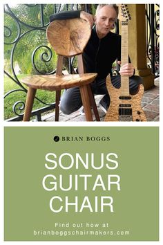 Sonus Guitar Chair combines the benefits of a finely tuned bespoke chair with the aesthetic appeal of solid wood furniture. The Sonus design is a direct compliment to the human body in a playing position. The carved seat and back promote an ergonomic, upright posture which both reinforces the lumbar curve of your lower back and sits below the shoulder blades. #chair #guiterchair #sonuschair #BrianBoggs #woodchair #furniture #woodwork