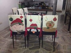 Family Christmas Gifts, Christmas Sewing, Christmas Music, Christmas Holidays, Christmas Crafts, Merry Christmas, Christmas Ornaments, Christmas Chair Covers, Chair Back Covers