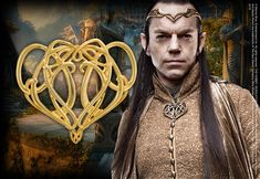 """Elrond's Brooch  Gold plated. Measures 3.5"""" by 3"""""""