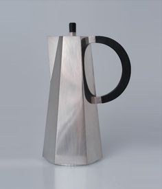 Wine jug, silver and ebony. Made by Wiwen Nilsson, Shown at the Stockholm Exhibition, 1930.