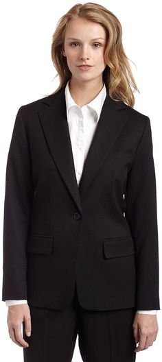 Pendleton Women's Petite One-Button Blazer -- This is an Amazon Affiliate link. Click on the image for additional details.