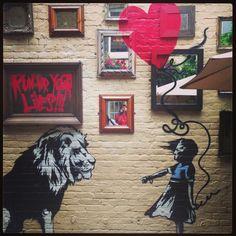 Banksy garden at the princess in primrose hill London Garden On A Hill, Garden Club, Primrose Hill London, London Garden, London Clubs, Family Garden, Kew Gardens, London Life, London Calling