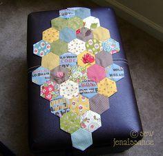Hexagon Table Runner by Sew Jenaissance