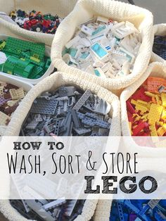 How I gotour thousands of Lego pieces clean andsorted once and for all (it was very therapeutic!)