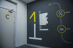 Office wayfinding system on Behance