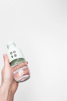 Bottle & Label / Packaging / Dose by Nora Kaszanyi https://www.behance.net/gallery/26488063/DOSE