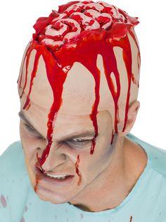 Offenes Gehirn Horror Latex Mütze rot-haut. Aus der Kategorie Schminke & Make Up / Halloween Horror-Applikationen. Man sollte stets bemüht sein, einen offenen Geist zu bewahren, doch manch einer ist einfach zu offen im Kopf..