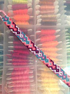 Wonderful Make Alphabet Friendship Bracelets Ideas - Friendship Embroidery Bracelets Photo of Pattern - Diy Bracelets Easy, Thread Bracelets, Embroidery Bracelets, Summer Bracelets, Bracelet Crafts, Ankle Bracelets, String Bracelets, Peyote Bracelet, Braclets Diy