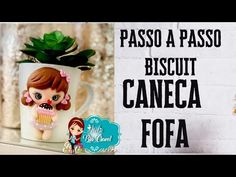 Passo a Passo - Caneca Fofa - decorada com Biscuit - MOLDElando - YouTube Fondant Figures Tutorial, Mayo, Videos, Biscuits, Polymer Clay, Youtube, Cold Porcelain Ornaments, Cute, Stuff Stuff