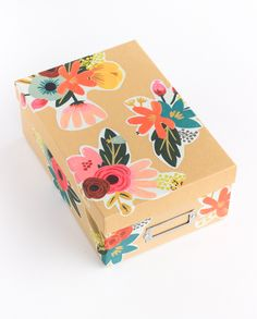 Can't wait to make over those boring storage boxes with this easy DIY decoupage.