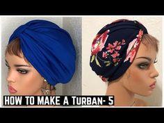 HOW TO MAKE A TURBAN STYE 5 - YouTube Turban Headband Tutorial, Turban Headbands, How To Make Turban, Head Turban, Hat Patterns To Sew, Turban Style, Diy Bags Tutorial, Diy Hair Accessories, Bandana