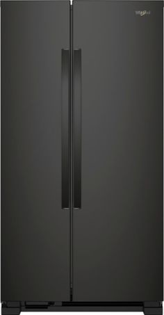 Whirlpool - 21.7 Cu. Ft. Side-by-Side Refrigerator - Black - Front_Zoom