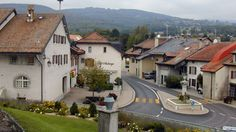 Genolier, center of town from the church on the hill, Switzerland, Mansions, House Styles, Home Decor, Plunge Pool, Decoration Home, Manor Houses, Room Decor, Villas