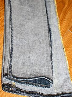 Make flaired or wide leg jeans into skinny jeans... I wish I knew how to sew... I have a ton of pairs that are just too short for me to be shaped the way they are but would fit into a pair of boots if they were skinny jeans and still fit great. Hmm...