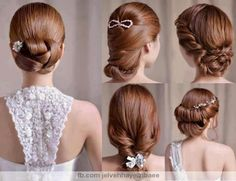 Miraculous 1000 Images About Flawless Wedding Hairstyles On Pinterest Short Hairstyles Gunalazisus