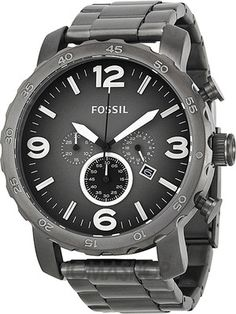 #Fossil NATE Analog Watch For Men (Silver)