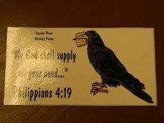 Hands On Bible Teacher: The Ravens Fed Elijah (GOD WILL PROVIDE!)