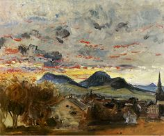 Sunset at  Godramstein,  Max Slevogt,  1913