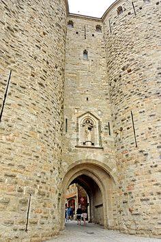 porte Narbonne. Carcassonne. Languedoc-Roussillon