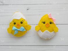 Felt Chicken Ornament  Easter decoration by Rainbowsmileshop