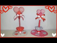 Heart Pen for Valentine's Day Barbie Dolls Diy, Diy Doll, Easy Gifts To Make, Pen Toppers, Ribbon Crafts, Red And White, Valentines Day, Easy Diy, Place Card Holders