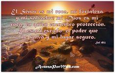 Imágenes cristianas con versículos El Señor es mi roca | imagenes.cristianas.com