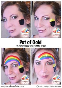 Pot of Gold for St. Patrick's Day Face Painting Design, home schooling idea