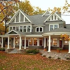 Love wrap around porches - a MUST have in my dream home. This house is absolutely BEAUTIFUL!