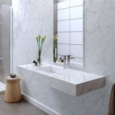 Find out all of the information about the Riluxa product: Carrara marble washbasin / wall-mounted / rectangular / contemporary CARRARA Contact a supplier or the parent company directly to get a quote or to find out a price or your closest point of sale. Countertop Basin, Countertops, Carrara, Deco Baroque, Marble Wall, Bathroom Basin, Cabinet Furniture, Beautiful Wall, Bathroom Interior