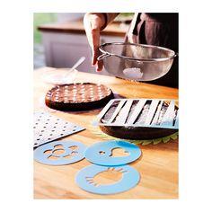 DRÖMMAR Plantilla, juego de 5 IKEA 5 plantillas diferentes para decorar tartas y bollos con azúcar glas, cacao, etc.