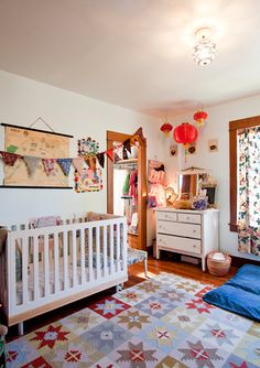 ok, this is the first time i have repinned a baby's room. i really love this vintage nursery.