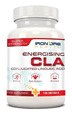 CLA - 120 capsules molles Super Strength - Plus efficace qu'un brûleur de graisse - Pour un corps parfaitement constitué – Le meilleur complément pour éliminer la graisse et gagner du muscle