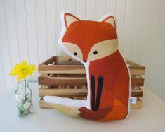 Plush Fox Toy Pillow Stuffed Red Woodland by LittleSidekick