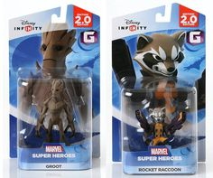 Disney INFINITY Marvel Super Heros (2.0 Edition) - Groot and Rocket Raccoon Figures from Guardians of the Galaxy Bundle