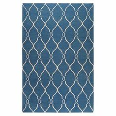 Wool rug with a lattice motif. Hand-woven in India.    Product: RugConstruction Material: 100% WoolColor: Night sky and ivoryFeatures:  Made in IndiaHand-woven Note: Please be aware that actual colors may vary from those shown on your screen. Accent rugs may also not show the entire pattern that the corresponding area rugs have.Cleaning and Care: Blot stains
