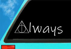 Harry Potter Decal  | Deathly Hallows Decal| Deathly Hallows | Decal | Car Decal | Car Window Decal Car Window Decals, Car Decals, Vinyl Decals, Harry Potter Decal, Mermaid Wall Art, Deathly Hallows, Transfer Paper, 6 Years, How To Remove