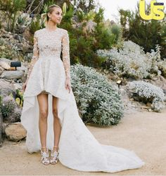 Here Are Some Celebrities Wearing Wedding Dresses Elle Edgy Star